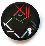 Ajanta Plastic Analog Wall Clock (32 cm x 32 cm x 4.5 cm, Black)