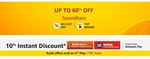 Get Upto 60% off on Soundbars and Home Theaters