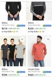 Min 80%off Men's top brand clothing start @Rs.219