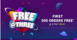 (Live at 3 PM) Firstcry FREE at Three 100% Off upto 1500 on First 500 Orders