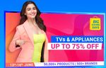 Free 1000 Off & 750 Off Coupons on Refrigerators & 3% Off upto 2700 Coupon on TV, 5% Off upto 1500 on Washing Machines