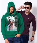 Sweater + Full sleeve T-shirt combo for Rs. 899