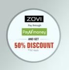 Zovi.com 50% discount by Payumoney