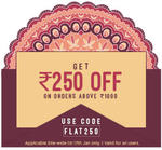 Get Rs.250 off on Rs.1000 (Valid for new users only)