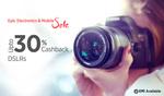 Dslr cameras Flat 30% Cashback PayTM on Canon and Nikon