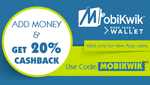 20% cashback on add money @ Mobikwik {NEW USERS}