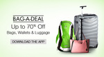 Upto 70% off on Bags, wallets & Luggage - amazon app