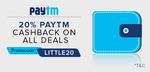 ilittle: 20%Cashback through paytm