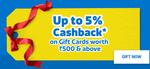 Flipkart Gift Card Special CashBack Offer