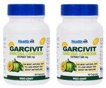 HealthVit GARCIVIT Pure Garcinia Cambogia Supplements 500mg 60 Capsules - Pack of 2@300