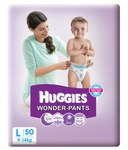 Snapdeal : Huggies Wonder Pants Diaper (large) Pack Of 50 @ Rs.420 MRP 699 [Free Delivery]