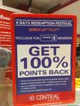 Redeem 100% of your payback points