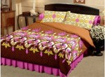 50% Off on Raymond Cotton Printed Double Bedsheet (Pillow Covers & Bedsheet)