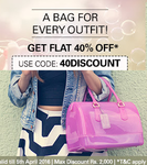 Flat 40% off on Women's Bags at EBay
