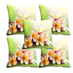 meSleep White Flower Cushion Cover(16 x 16) Set of 5 for Rs. 694 @ Amazon