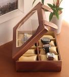 KRIO Designs Metallic Copper PU Leather 1.8 x 4.3 x 1.2 Inch 8-case Watch Box @ Rs.1073 (MRP : Rs.2000)