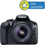Canon EOS 1300D 18MP Digital SLR Camera (Black) with 18-55 ~ 22999-10% OR 55-250mm IS II Lens ~ 30999- 10% at Flipkart