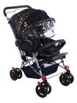 Mee Mee Fully Canopied Pram (Navy Blue)  @Rs.4549/-  (MRP.6499)