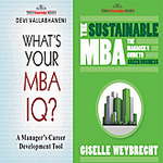 Awesome deal-79% discount- What Is Your Mba Iq ?The Sustainable Mba ( Pack Of 2 Books) MRP 625 @132+35Shipping