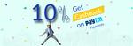 10% cashback via paytm wallet @ Bro4u