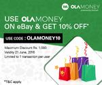 Ebay: Upto Rs. 1000 off using Ola Money Wallet