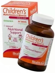 [less than Previous Fpd] HealthAid Children's MultiVitamins and Minerals - 30 Chewable Tablets @510 (50% off) Mrp 1020