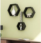 Onlineshoppee Wooden Wall Shelf(Number of Shelves - 3, Brown) @ 679/-