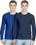 Hueman Solid Men's Round Neck Multicolor T-Shirt(Pack of 2) for Rs. 669 @ Flipkart