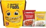 Weikfield Penne Pasta, 500g + Free Red Pasta sauce & white pasta sauce @125/- Mrp 175/- at Amazon