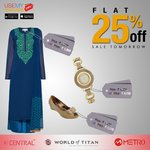 Usemyvoucher-25% off on Central | Metro | World of Titan on 17th June