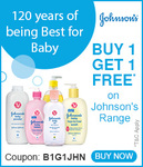 FirstCry: Buy 1 Get 1 Free* on Johnson's Range