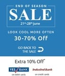 Shopclues- End of Season Sale + Extra 10% Discount via Yes Bank/Induslnd Bank