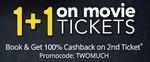 [LIVE Now] 1+1 offer on Movie Tickets this Friday @ Paytm [Live On 24th June]