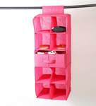 Flat 53% off, My Gift Booth Pink 9-compartment Wardrobe Organizer for RS. 519- Pepperfry.com