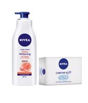Nivea Whitening Lotion SPF 15 – 400 ml + 2 Nivea Soap 75 g Free- Rs 252 [ 30 % off ] MRP Rs 360