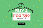 Jabong : BUY 2 For Rs 599 [11 AM -2 PM]