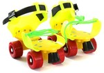 Dry Skates Power Quad Roller Skates - Size 4-7 UK(Yellow, Green, Orange) for Rs. 449 @ Flipkart