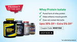 Upto 35% OFF + Extra 5 % OFF on  Whey Protein Isolate @Healthkart