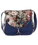 Vogue Tree Blue Canvas Sling Bag
