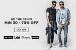 Get 30-70% off on Denim apparels