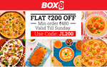 Get flat Rs.200 off on minimum order of Rs.480