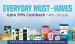 Upto 50% Cash Back On Personal Care, Skin Care & Make up, Grooming Products & much more (4th & 5th July)