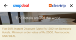 Get 50% instant discount on domestic hotels on Snapdeal App