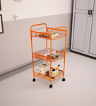 Deneb Premium Orange Steel 30 x 16 x 5 Inch Trolley