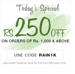 Pepperfry:- Get Rs.250 off on all orders above Rs1000