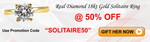 Flat 50% off on Diamond Solitaire Rrings