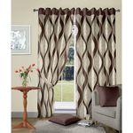 Vorhang Brown Jacquard Curtain Long door curtain
