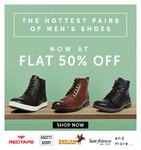 Flat 50% off on Men's Shoes