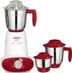 Maharaja Whiteline Maestro MX-134 600-Watt 3 Speed Mixer Grinder with 3 Jar (Red/White)