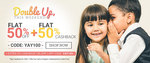 Flat 50% off + Flat 50% cashback on Baby clothing + 25% cashback with Paytm